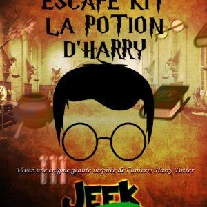Escape Game en kit la potion d'Harry Potter ! Un escape game adulte entre 1 & 6 joueurs pour créer chez vous ou au travail, lors des événements, des escape room vous-mêmes !