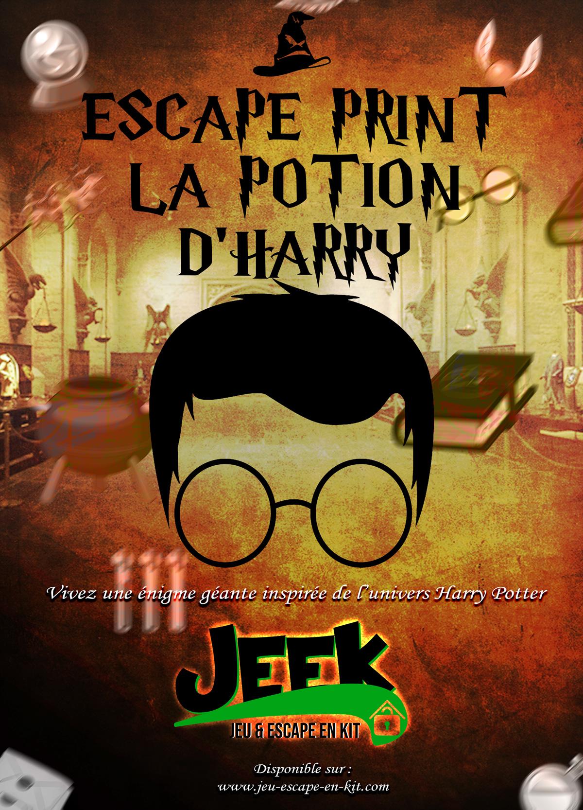 escape print la potion harry potter